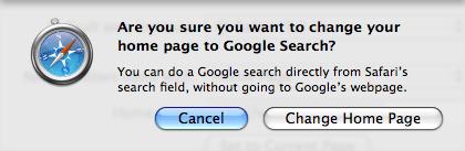 Changing homepage in safari on mac