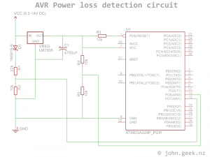 AVR voltage loss detection circuit