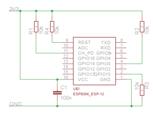 Note: The pin CH-PD is marked EN on the ESP8266 12E